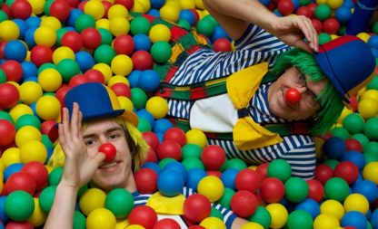 CLOWNS unterwegs – lustige Picknickparty zum Kindergeburtstag