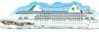 Seenotübung auf dem Love Boat