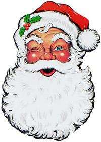 weihnachtsmann-dekoration
