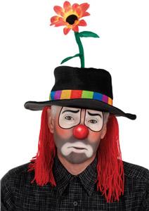 Clownhut mit Blume