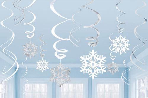 Schneeflocken Spiralendeko