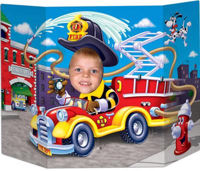 Feuerwehrparty Geburtstag Foto-Kulisse