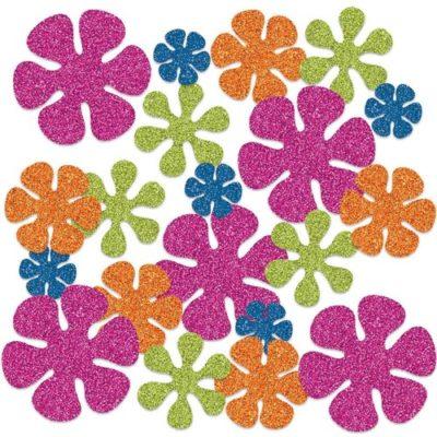 Blumen Konfetti glitzer