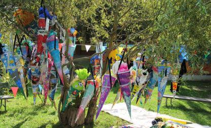 Einschulung unterm Zuckertütenbaum