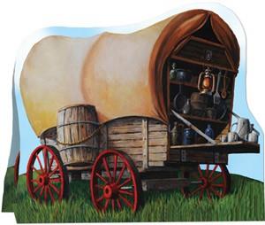 western-deko-planwagen