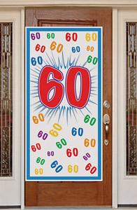Wanddeko zum 60.