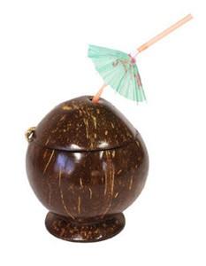 kokosnuss-becher-deko