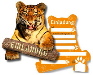 Safariparty Einladung Zoo