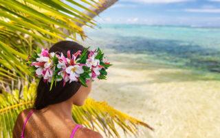 Mädchen am Strand Hawaii
