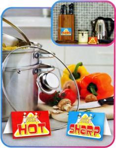 Hinweisschilder für kleine Köche
