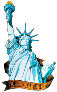 Riesendeko Freiheitsstatue