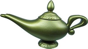 Aladins Wunderlampe auf dem Fliegenden Spielteppich