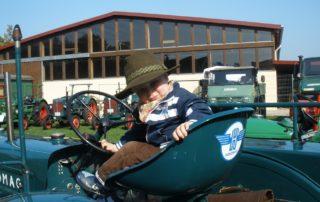 Kind auf dem Bauernhof