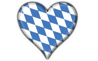 Herz mit bayerischen Rauten