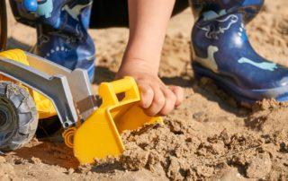 Baustellenparty Sandkasten