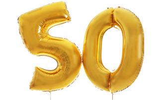 Große goldene Luftballons 50