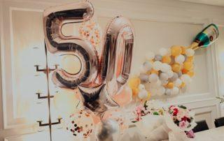 tolle Deko zum 50. Geburtstag
