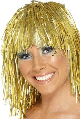 goldene Lametta-Perücke