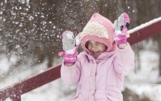 Schneeballschlacht Kinder