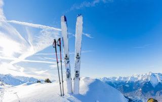 Skier in Winterlandschaft