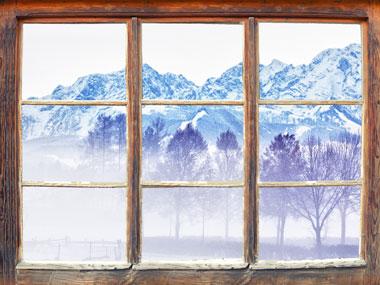 Winterfensterblick