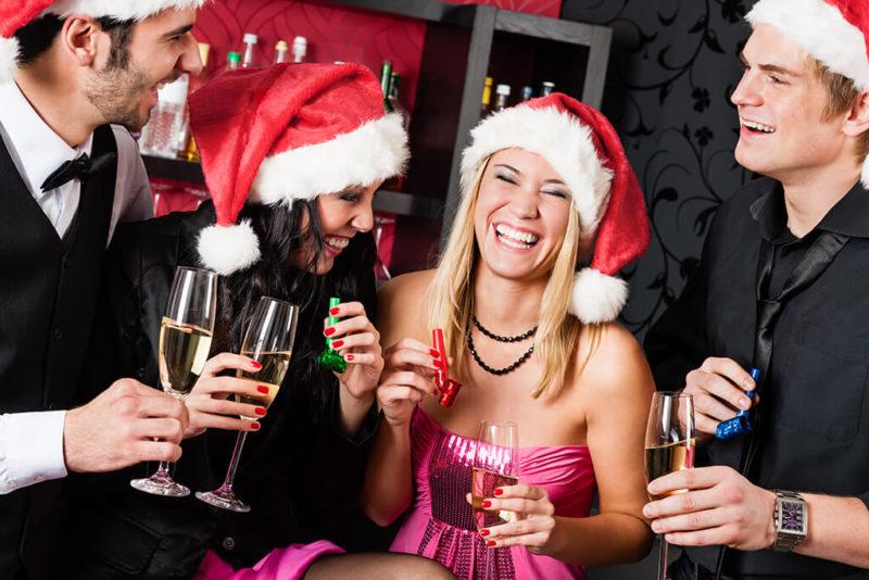 Weihnachtsparty Freunde