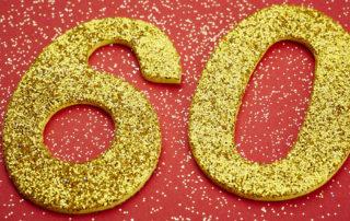 60 Geburtstag glitzernde Zahlen