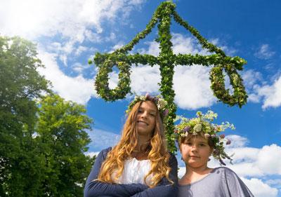 Schwedische Feier mitten im Sommer