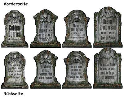 Grabsteine Set zur Deko