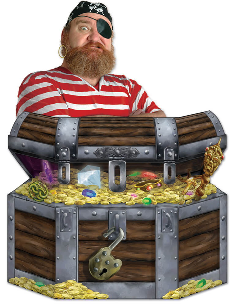 Schatztruhe für Piratengeburtstag