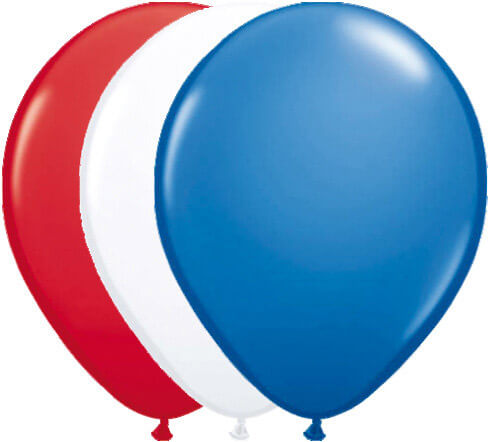 Luftballons in den Farben der USA