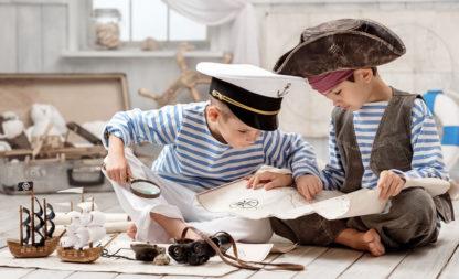 Partyspiele für kleine Piraten: die Schatzsuche