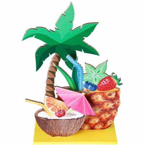 Tischdeko Palme und Cocktail