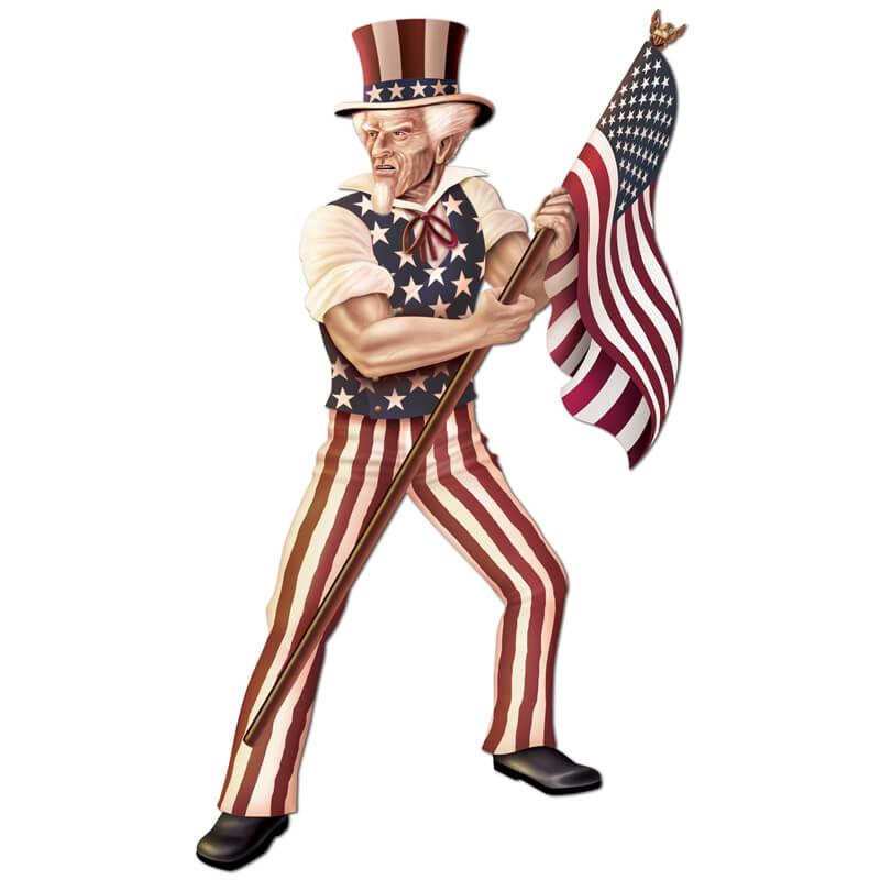 Uncle Sam Deko zum Unabhängigkeitstag
