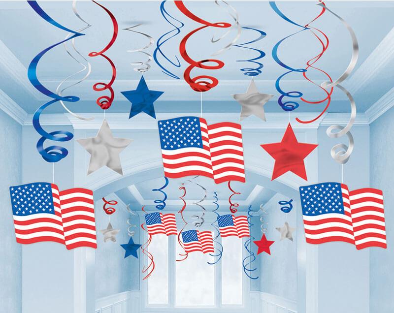 Raundeko amerikanische Flaggen