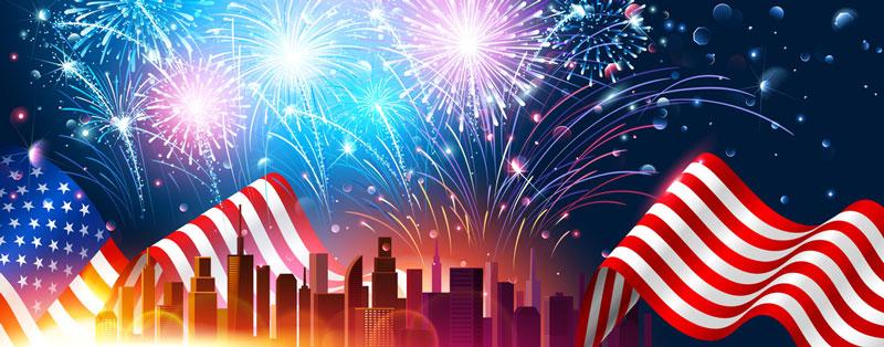USA Unabhängigkeitstag Feuerwerk