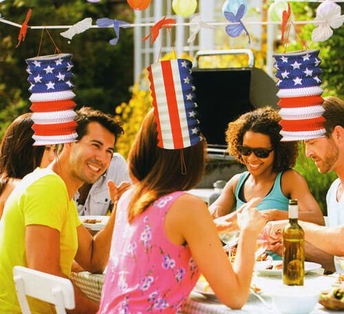 Partyfoto USA Party mit amerikanischer Deko