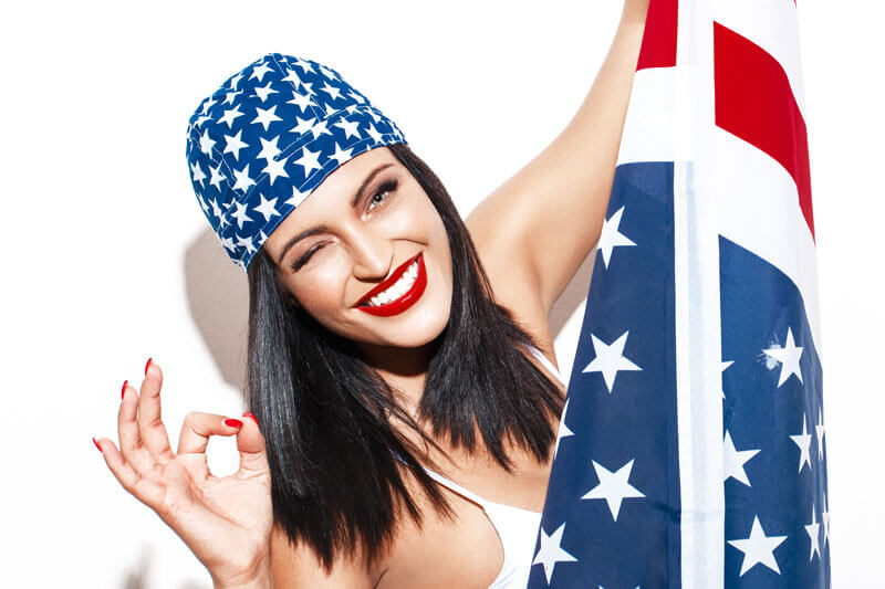 Partyoutfit zur USA Party