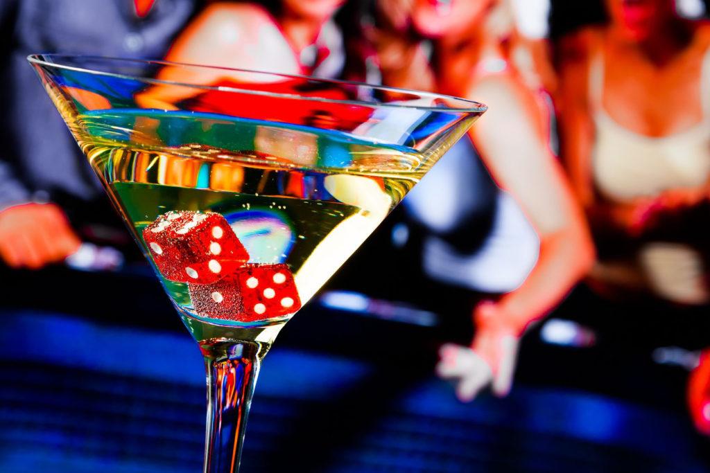 Getränk zur Casinoparty