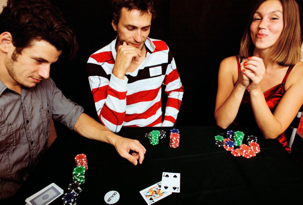 Pokerparty mit Freunden