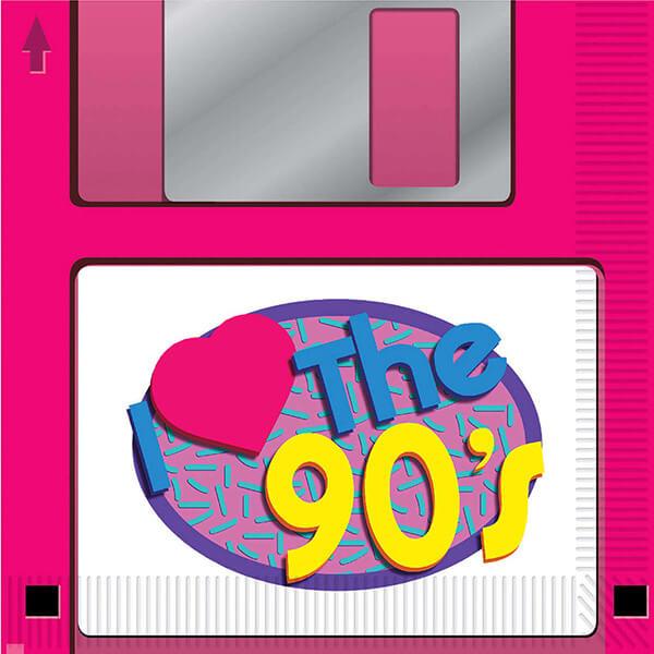 90er Jahre Partydeko Servietten
