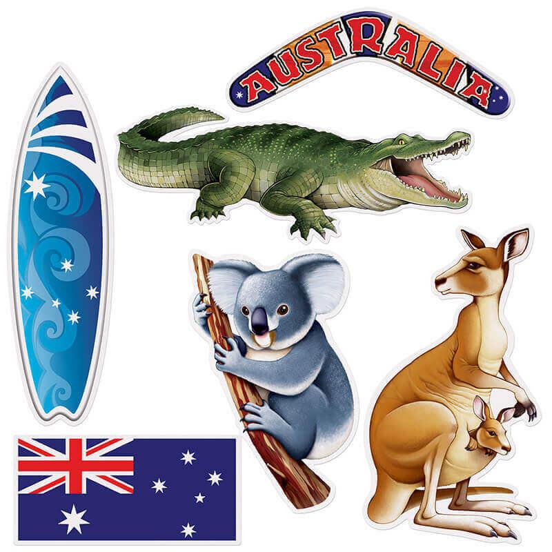 Partydeko Australien Mottoparty