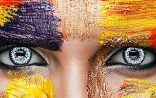 Farbige Kontaktlinsen mit spannenden Motiven