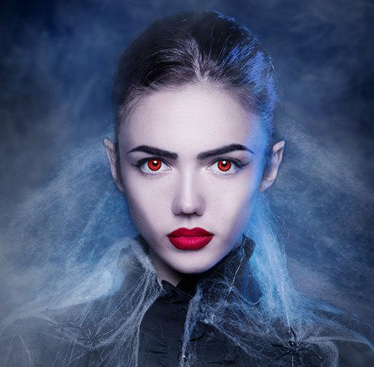 rote Farblinsen Red Devil farbige Kontaktlinsen