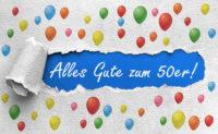 Geburtstagsgruß Alles Gute zum 50er