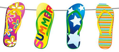 Sommer-Party Deko Flip Flops