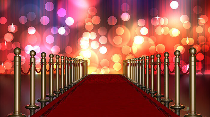 Roter Teppich führt nach Hollywood