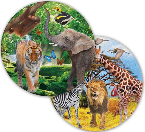 Teller mit Tier Motiv für die Dschungelparty