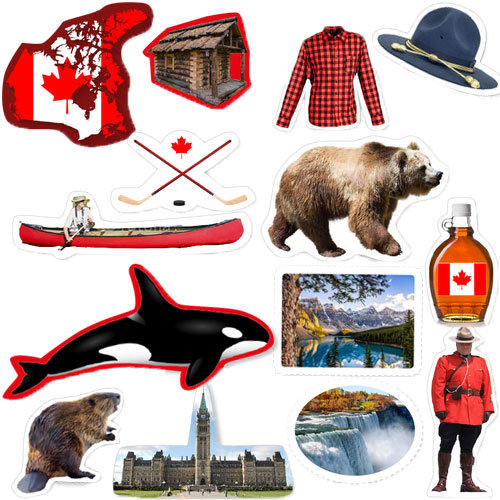 Streu Tischdeko Kanada