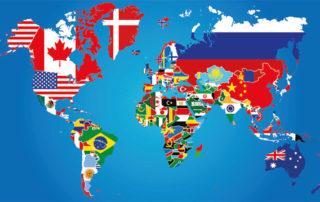 Flaggen Weltkarte